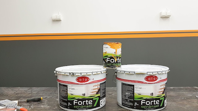 coloria forte seinämaalilla autotallin remontti.