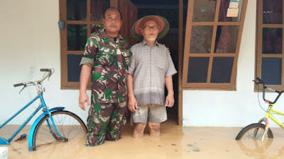 Tanggul Sungai Cikalong Jebol, Pemukiman Warga Terendam Banjir