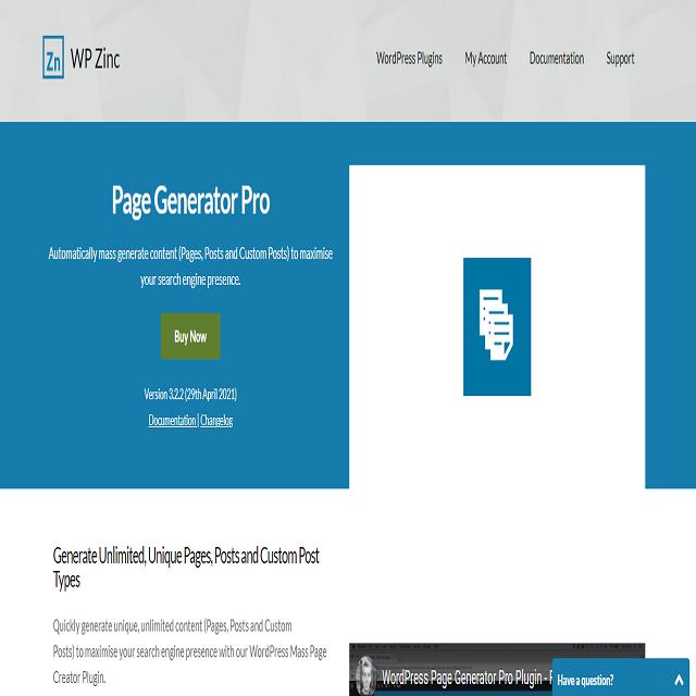 Plugin Page Generator Pro
