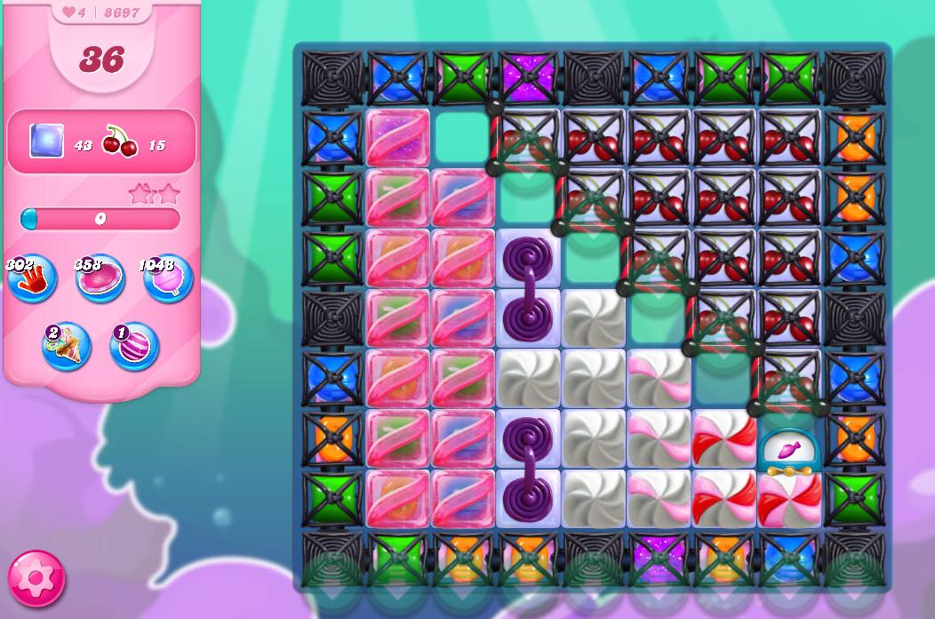 Candy Crush Saga level 8697