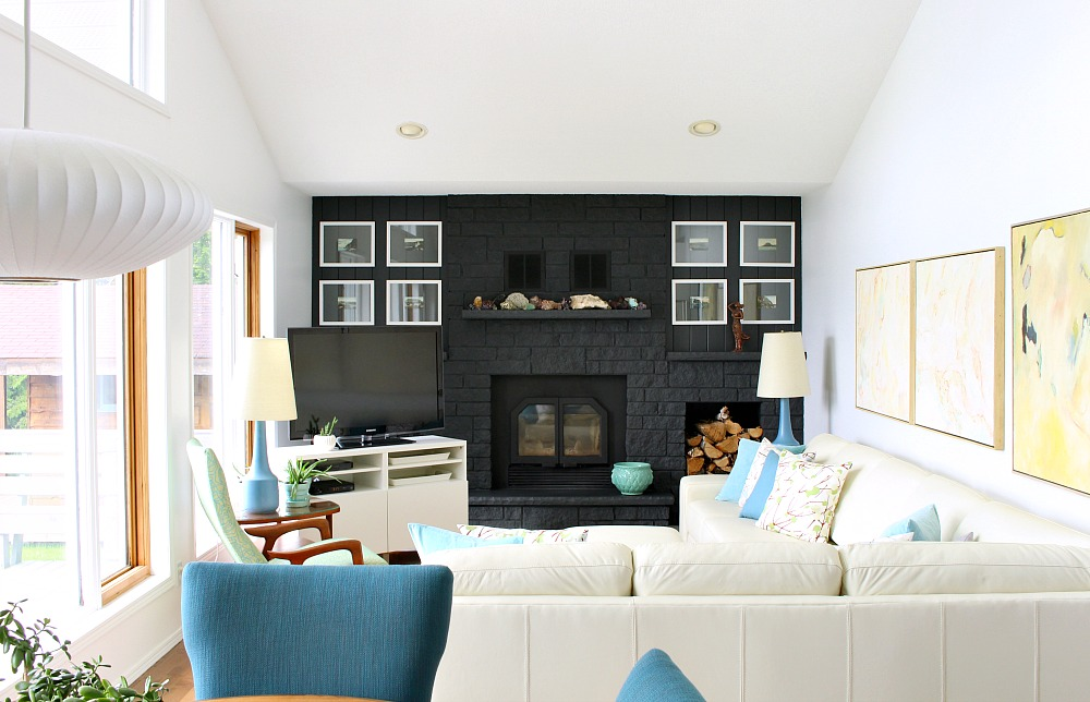 Lake House on Lake Superior Decorated in Blues and Greens