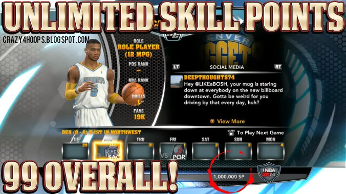 How to get Unlimited Skill Points in <b>NBA 2k14</b> MyCareer - HoopsVilla