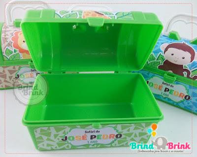 maleta plástica personalizada para lembrancinha de festa infantil