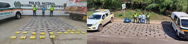 hoyennoticia.com, 265 kilos de coca 'viajaban' en dos vehículos por La Guajira