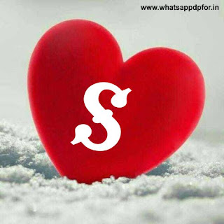 s letter images in heart hd