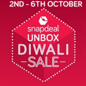 Snapdeal Unbox Diwali Sale & Deals (Starts Tonight till 6th October'16)