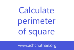 C++ program to calculate the area and perimeter of the square
