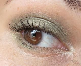 Augen Make Up mit grünem Lidschatten So Precious