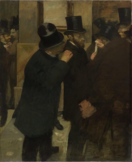 Эдгар Дега - На фондовой бирже (1878-1879) 2