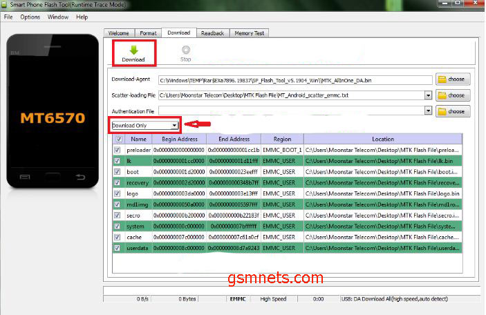 Then Click On Download batton Will The Flash Start SP Tool