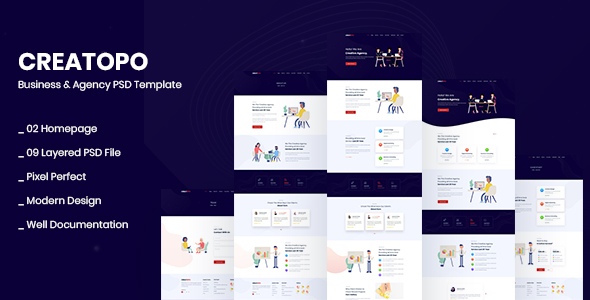 Agency and Business PSD Template