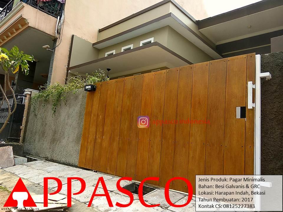 Pagar Minimalis Galvanis GRC di Harapan Indah Bekasi