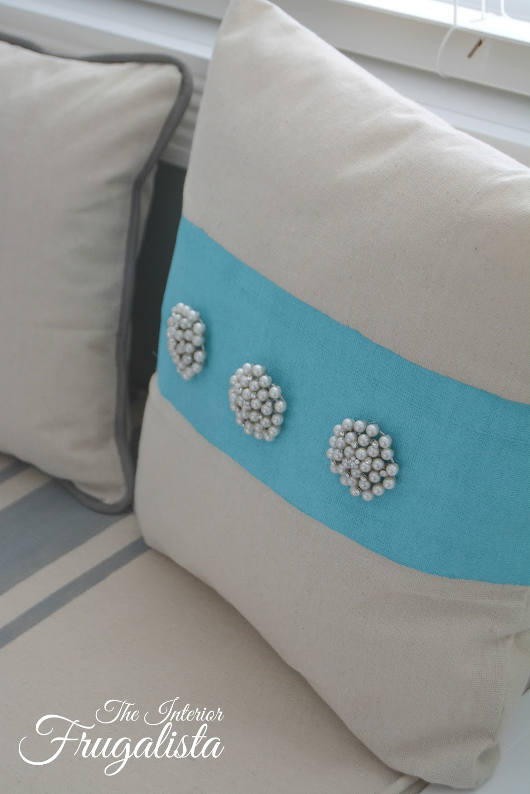 Vintage Pearl Earring Throw Pillow