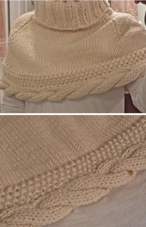 Cable Capelet - Free Pattern