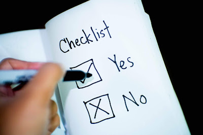 A yes or no checklist