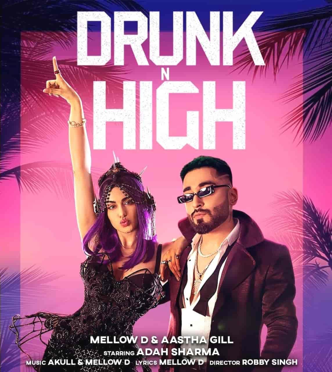 DRUNK N HIGH LYRICS - Mellow D | Aastha Gill