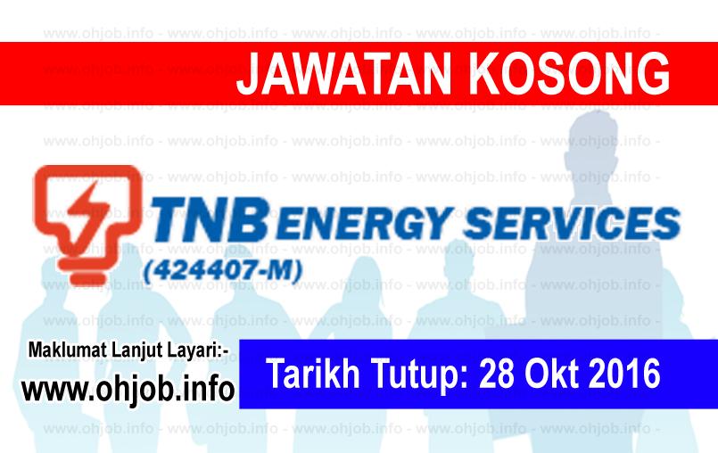 Jawatan Kerja Kosong TNB Energy Services (TNBES) logo www.ohjob.info oktober 2016