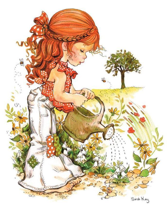 Desenho de Sarah Kay - Água nas Flores