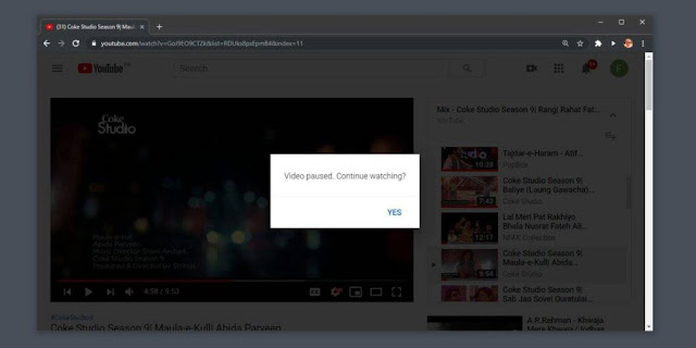 YouTube Video Paused Continue Watching - How To Disable In Google Chrome