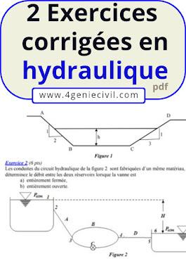 exercice avec solution en hydraulique