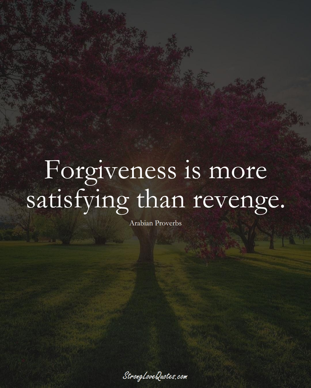 Forgiveness is more satisfying than revenge. (Arabian Sayings);  #aVarietyofCulturesSayings