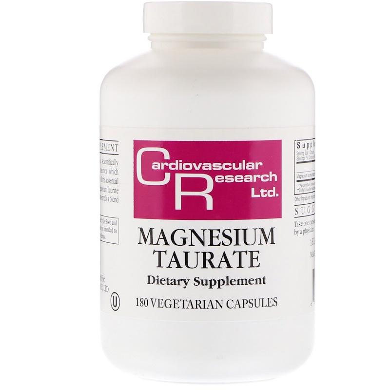 Cardiovascular Research, Таурат магния, 180 вегетарианских капсул