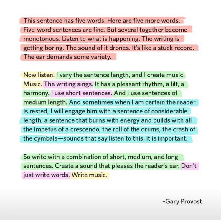 Labor English Zone: Write music, by Gary Provost
