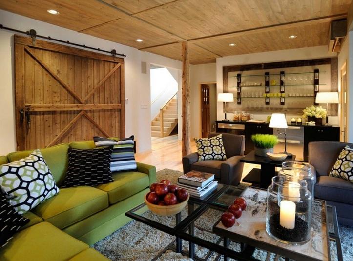 Dieses Wohnzimmer Ist Wirklich Urig Und Edel Die Weissen Holzschiebetr Sind Einzigartig Gestaltet Bilder Auch Wunderschn