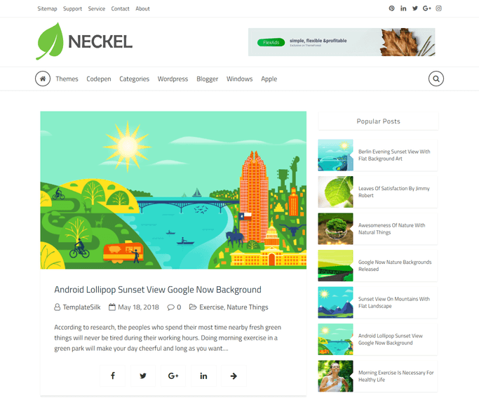 neckel out of box blogger template