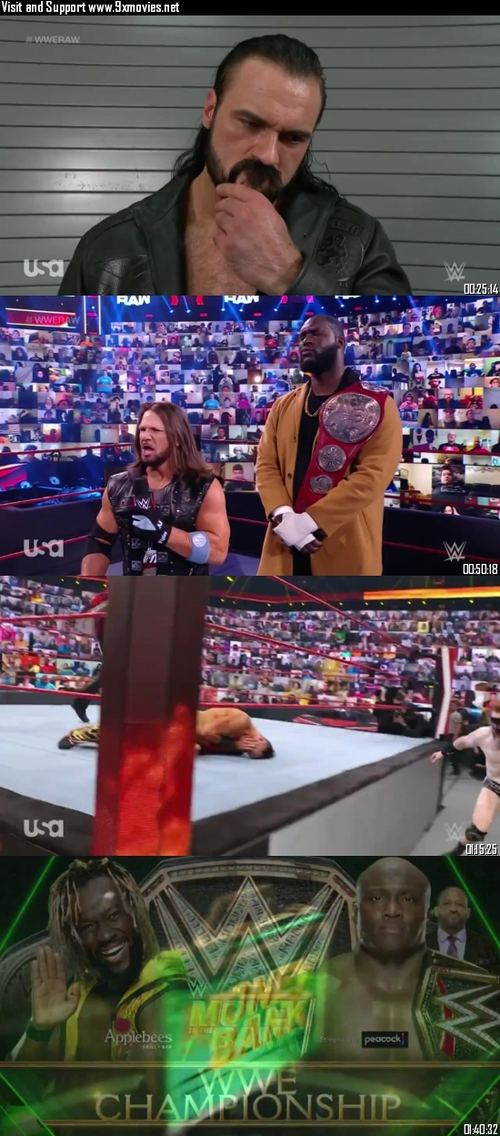 WWE Monday Night Raw 12 July 2021 HDTV 720p 480p 500MB