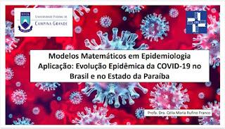 Professora de Matemática do CES/UFCG divulga informativo sobre projeção da COVID-19 no Brasil e na PB