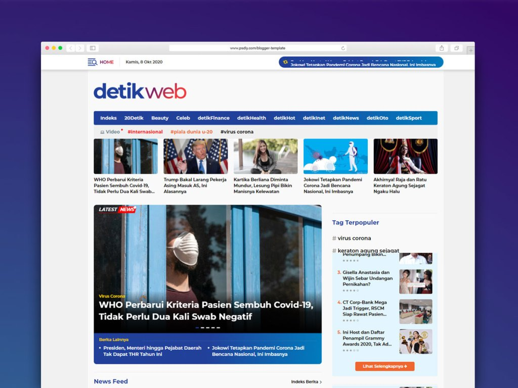 Detikweb Template Blogger