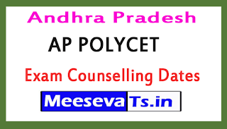 Andhra Pradesh AP POLYCET Exam Counselling Dates 2017