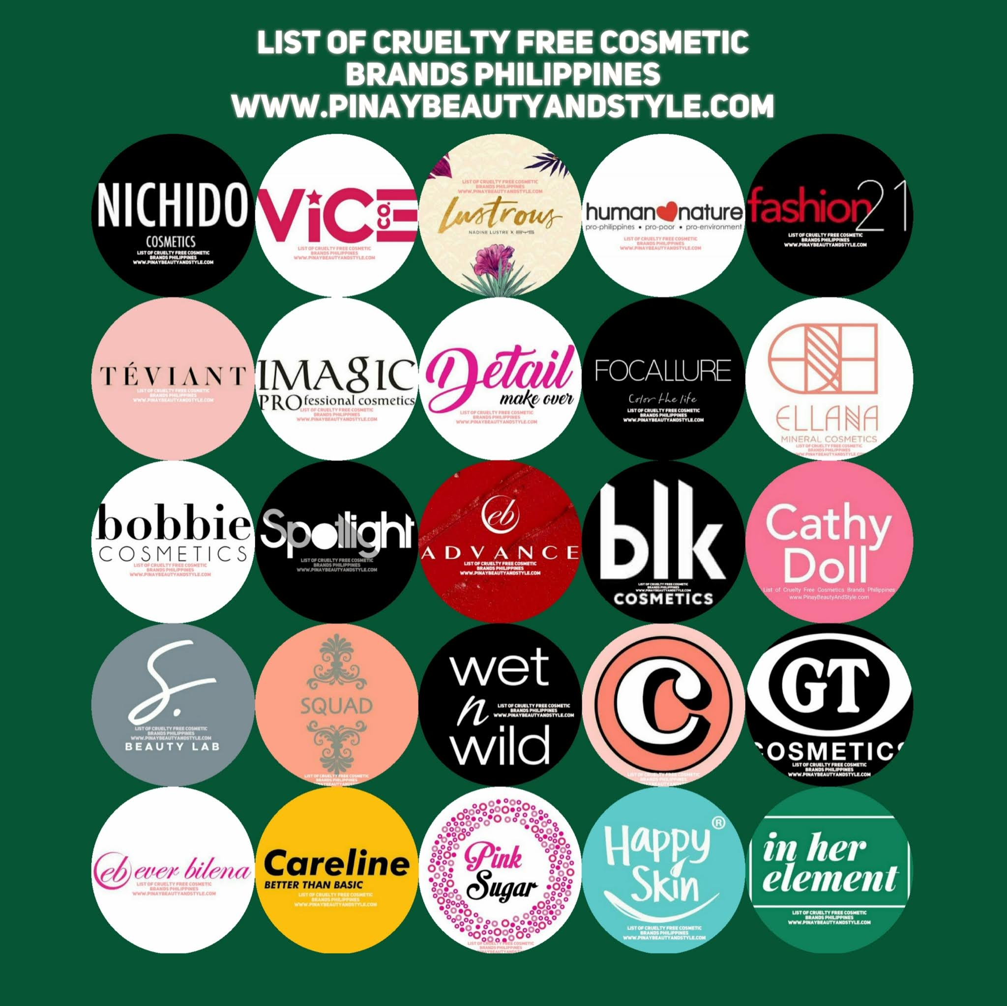 Pinay Beauty and Style 20 Cruelty Free Cosmetic Brands ...