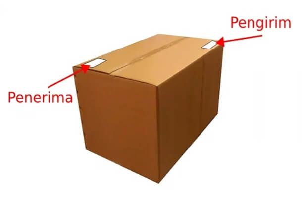 cara menulis alamat paket