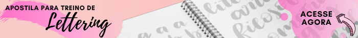Apostila para treino de Lettering - Acesse agora mesmo
