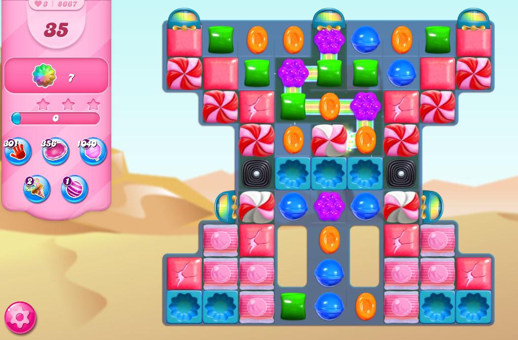 Candy Crush Saga level 8667