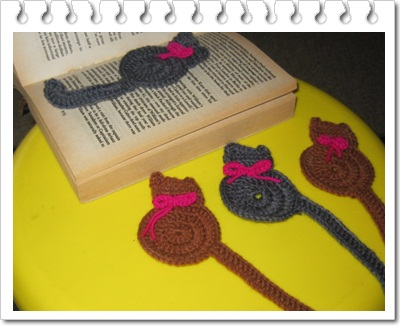 Ravelry: Cat bookmark pattern by Justyna Kacprzak | 326x400