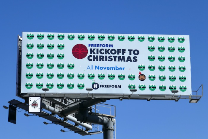 Kickoff to Christmas Freeform billboard