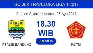 Persib vs PS TNI Stadion Si Jalak Harupat 5 Agustus 2017