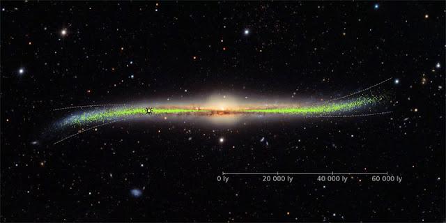 Via Láctea é deformada e torcida