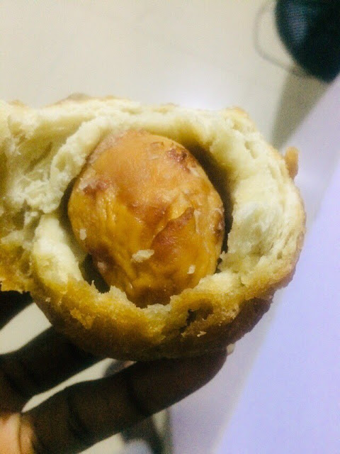 Social media user cries out after buying an eggroll only to find a Puffpuff inside (Photos)