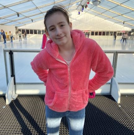 Sasha at skate rink