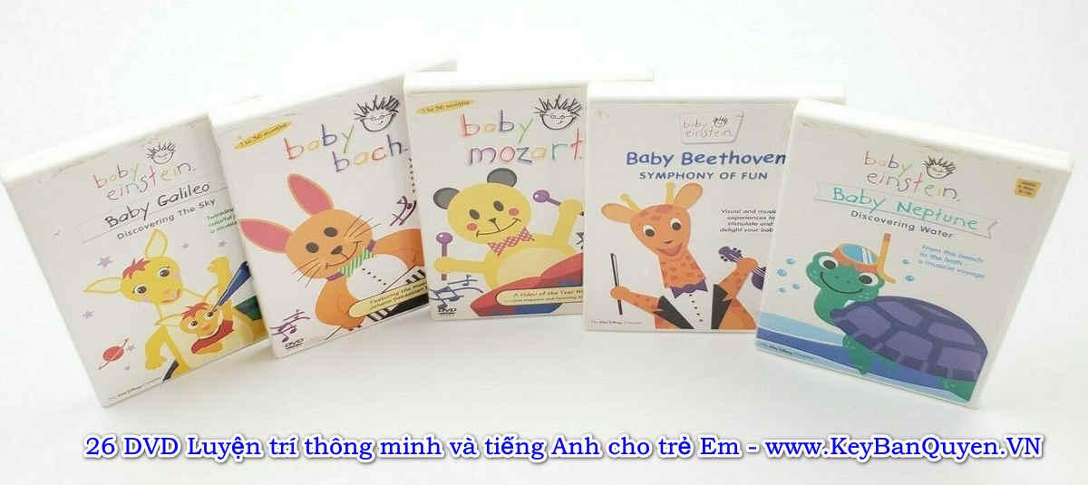 Download bộ DVD Baby Einstein - Giúp trẻ em học tiếng Anh và phát triển não bộ.