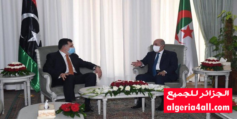 الرئيس تبون يستقبل رئيس المجلس الرئاسي لحكومة الوفاق الوطني لدولة ليبيا.#الجزائر #ليبيا #تبون #السراج #الأزمة