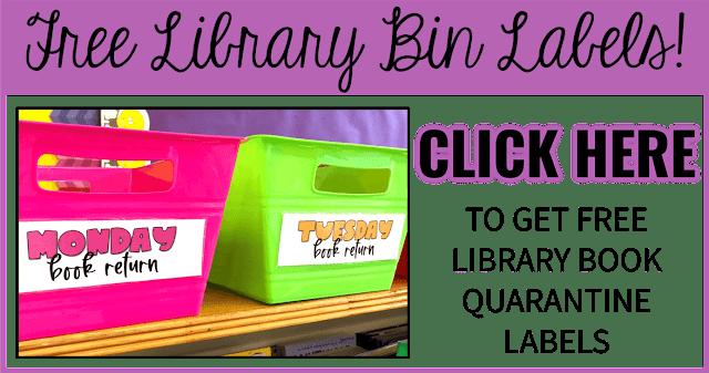 Free classroom library quarantine bin labels.