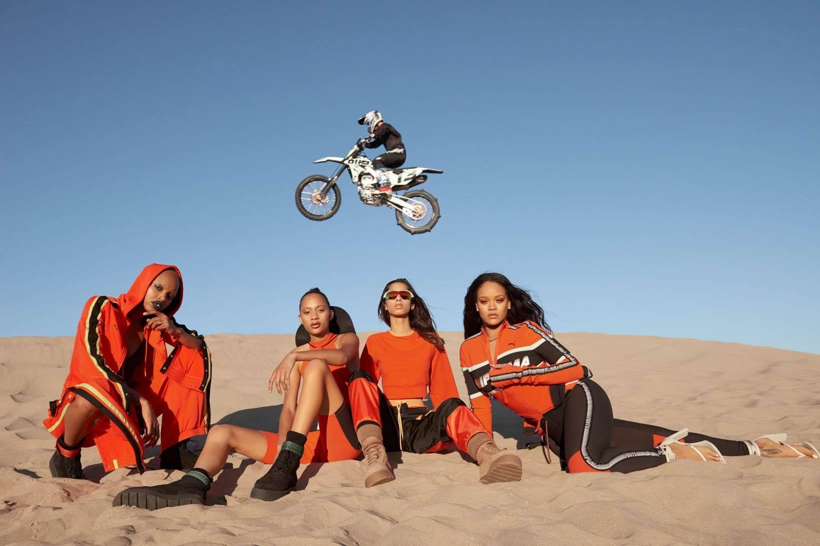 Rihanna poses for the Fenty x Puma Spring/Summer 2018 Campaign