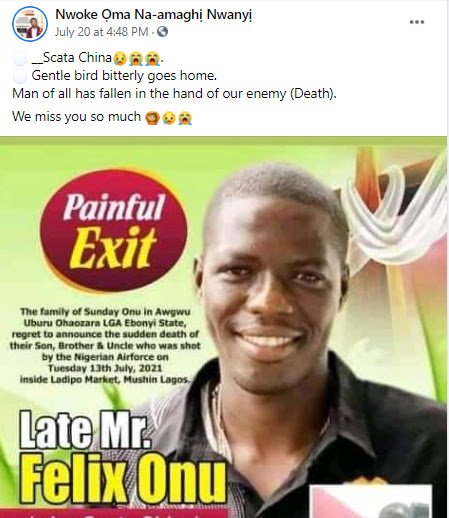 Obituary for trader shot dead in Ladipo market