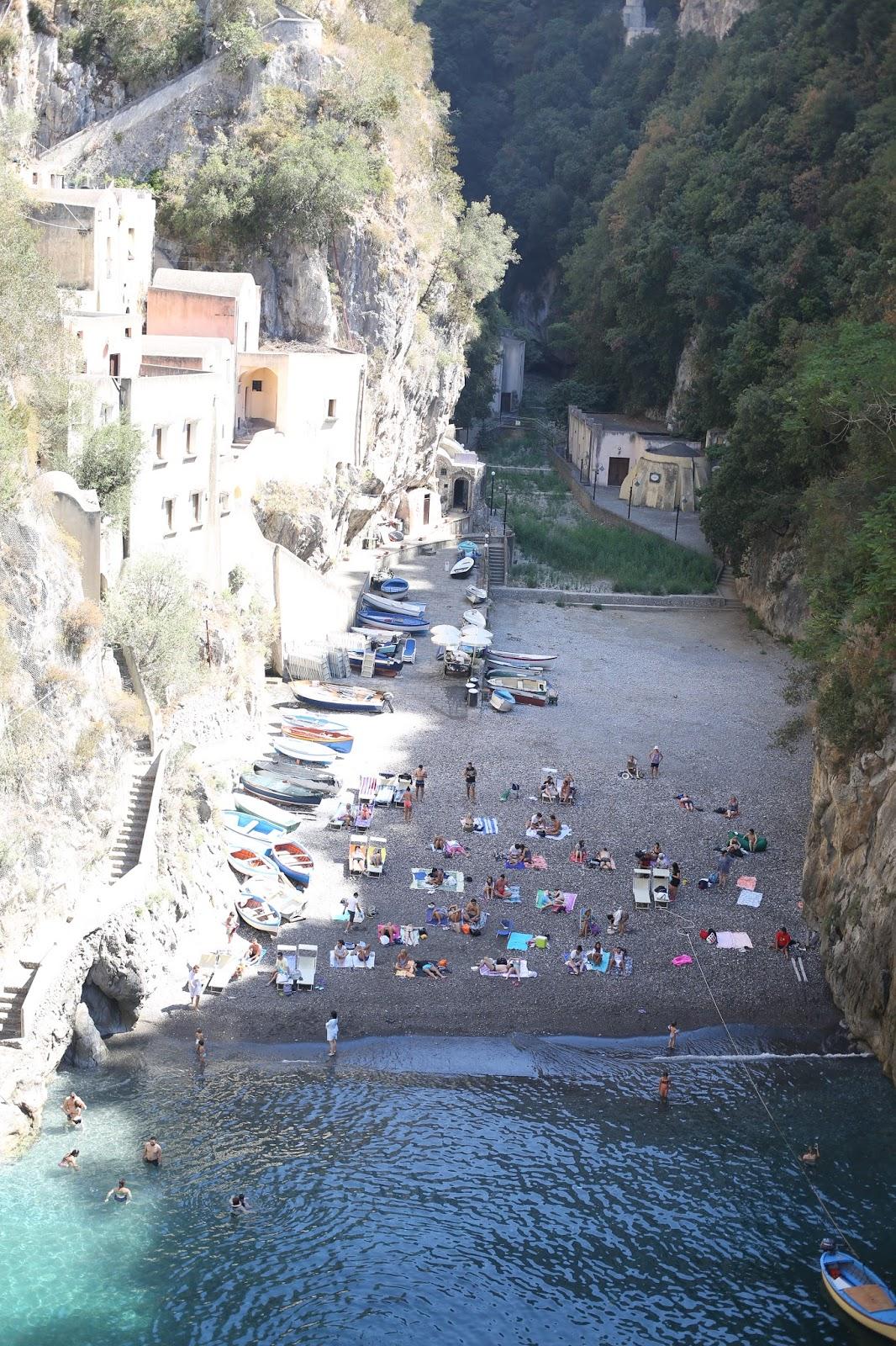 hidden beach in the Amalfi coast