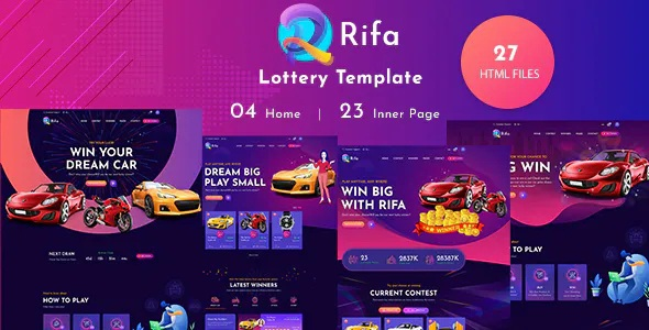 Best Online Lotto & Lottery HTML Template